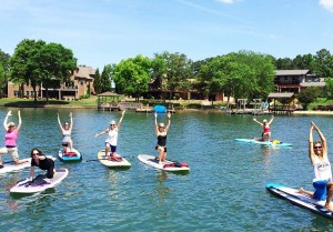 paddleboarding lake norman