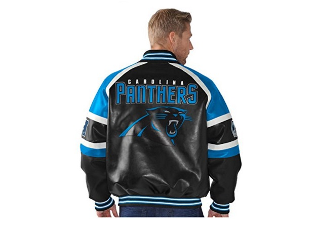 huge discount e53ae 984cc panther leather jacket gifts for panthers fans - Charlotte ...