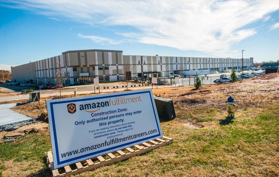 Amazon's fulfillment center in Concord, NC