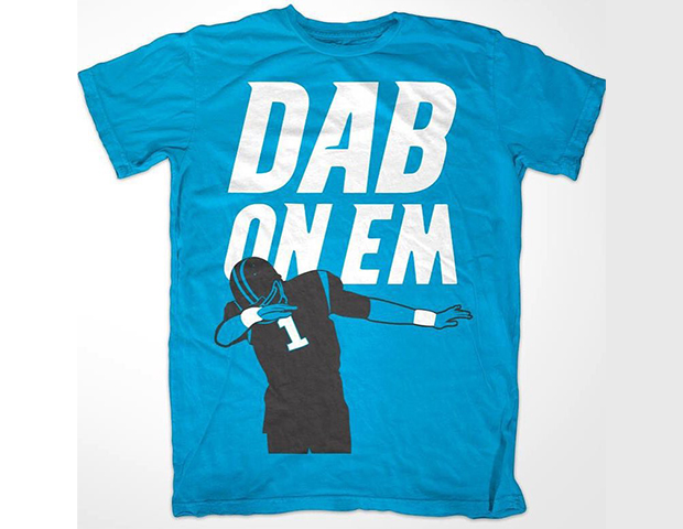 brand new 68f70 7ed52 Top 5 Carolina Panthers Dab On Em Shirts