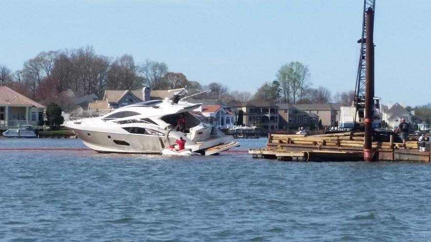 Million Dollar Yacht Stuck On Lake Norman Since Saturday