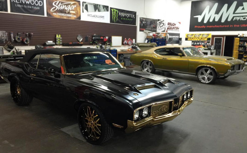 Cam Newton's 24k Gold-Plated Oldsmobile Is Truly One Of A