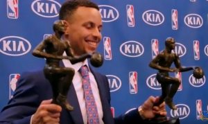 stephen curry first Unanimous MVP