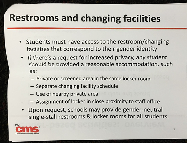 charlotte mecklenburg schools bathroom policy
