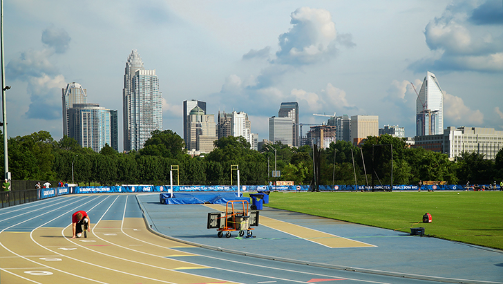 Johnson C. Smith recently hosted the U.S. Paralympic Trials