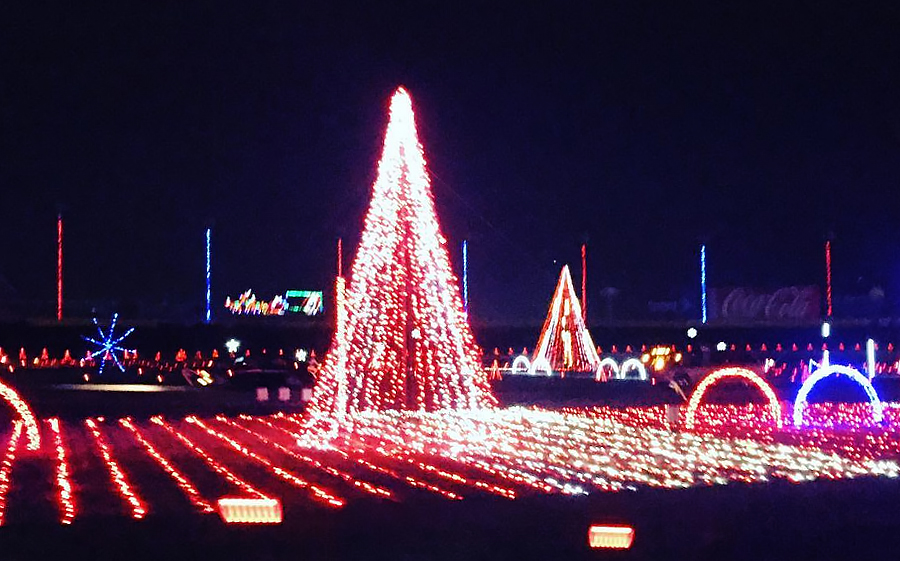 Christmas Lights In Charlotte 2021 The Region S Biggest Christmas Light Display Now Open At The Charlotte Motor Speedway Charlotte Stories