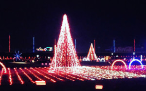 the regions largest christmas light display officially turned on yesterday at the charlotte motor speedway to kick off the holiday season