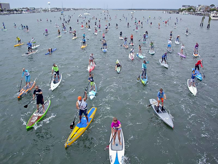 The Worlds Largest Gathering of Standup Paddleboarders Is