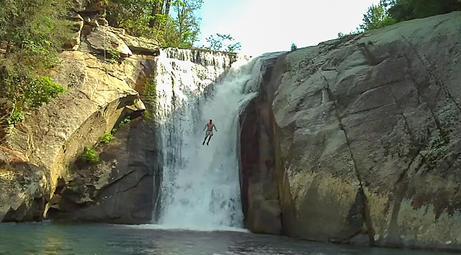 Image result for cliff jumping into rivers