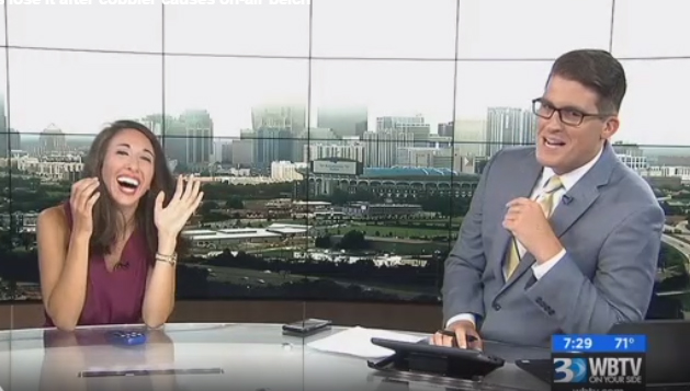 Charlotte Morning Anchor Totally Loses It After Co-Host