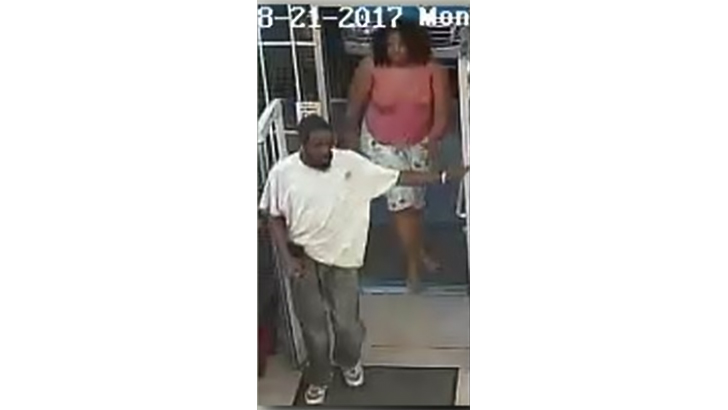 Archiana Flemming surveillance video with man.