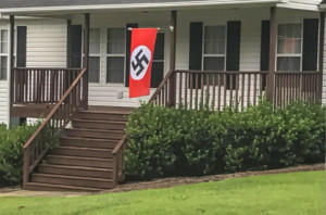 nazi-flag-in-mount-holly-nc