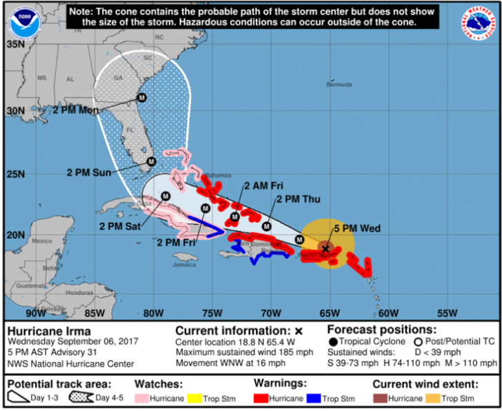 governor-mcmasters-hurricane-irma-state-of-emercency