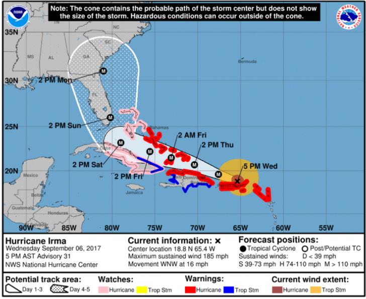 governor-mcmasters-hurricane-irma-state-of-emercency