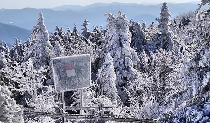 The First Snowfall Of The Season Reported Today In North Carolina