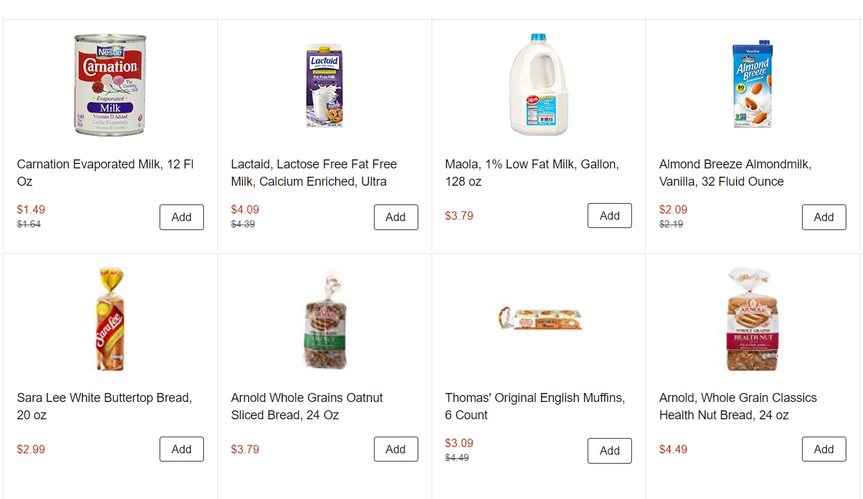 Amazon Now Offering 1 Hour Delivery of Milk and Bread For
