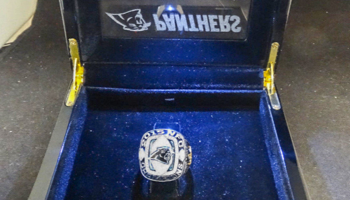 buy popular 8c6c2 15016 One of The Official Panthers' 2015 Championship Rings Was ...