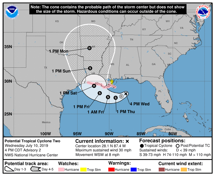 Gulf Storm Could Develop Into Hurricane Barry and Swing