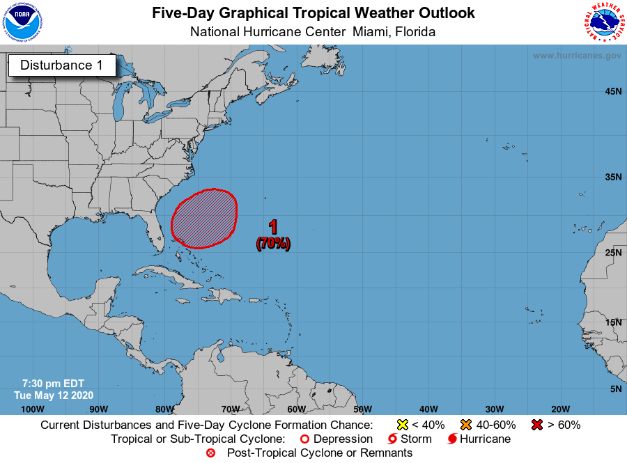Preseason subtropical system could develop, move off the Outer Banks this weekend