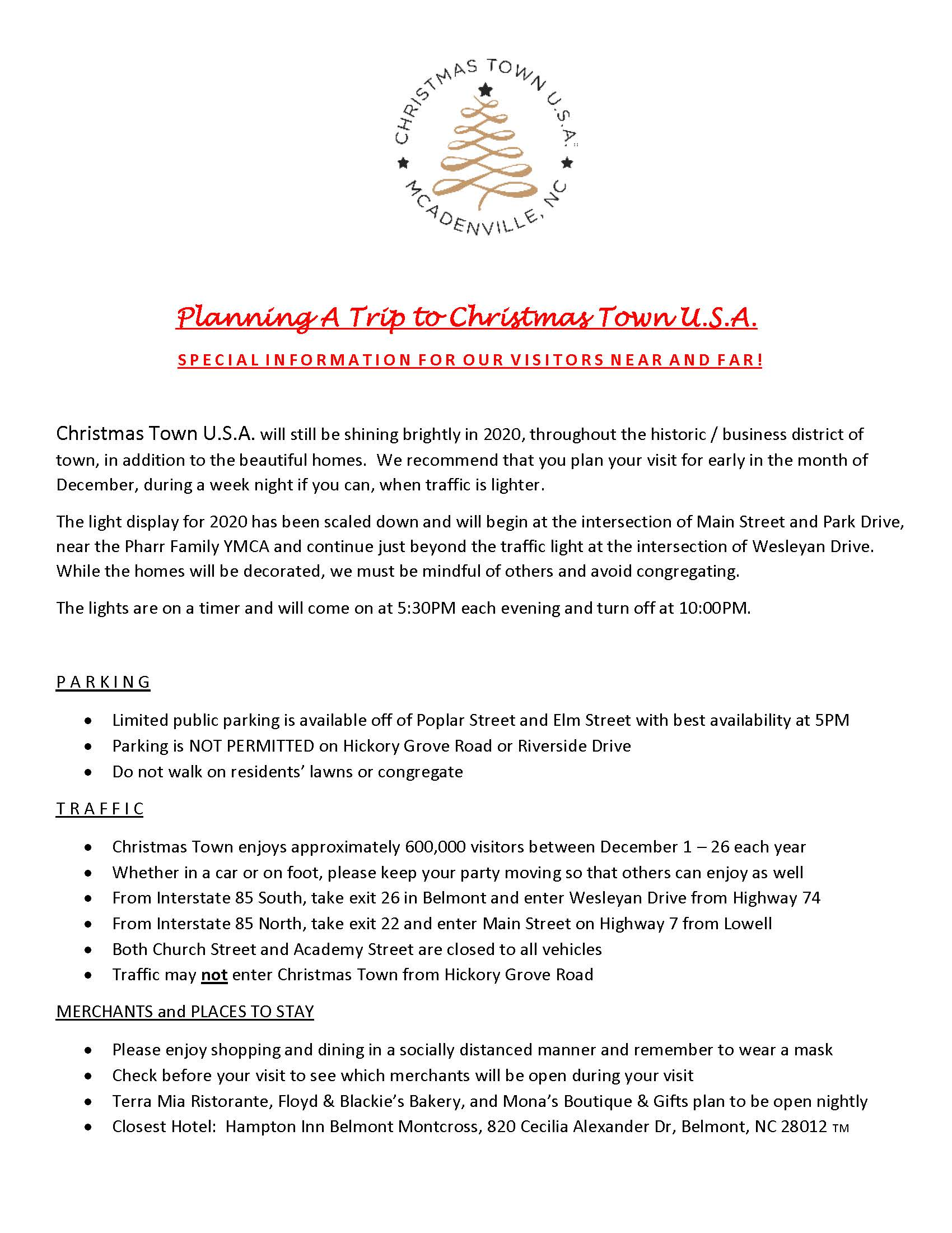 Website Info_Planning A Trip to Christmas Town 2020   Charlotte