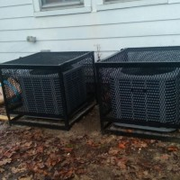 A/C Outside Rough Iron Security Cages